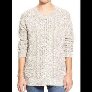 Treasure & Bond Cable Knit Sweater in Oatmeal
